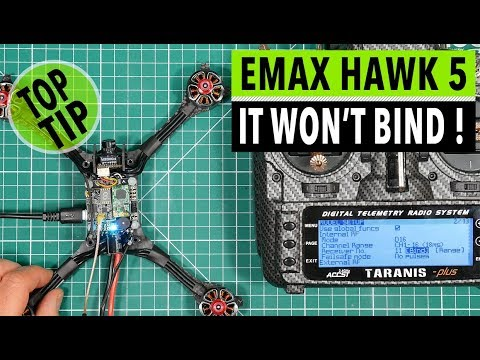 EMAX Hawk 5 Magnum F4 flight tower FrSky XM+ receiver and
