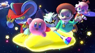 Kirby Star Allies - Final Boss With Dark Meta Knight, Daroach and Adeleine & Ribbon