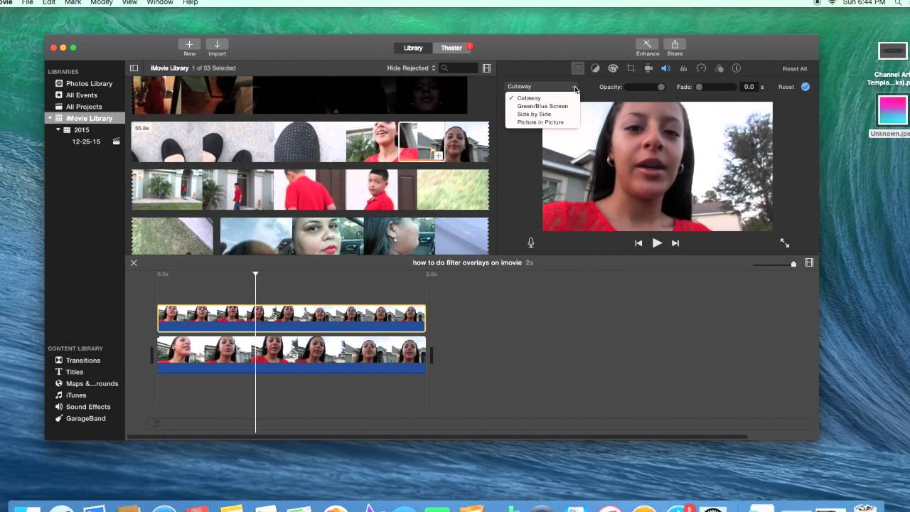 how to work imovie youtube