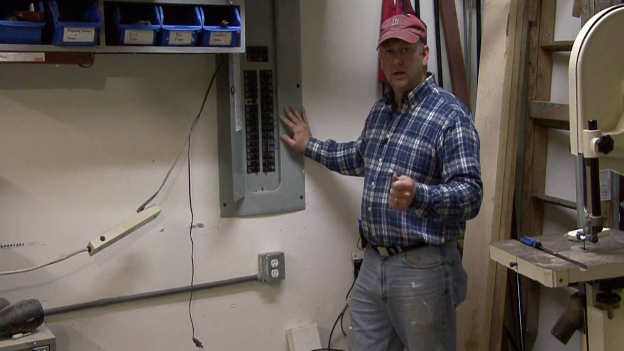fuse box in barn home improvements how to wire a garage youtube  home improvements how to wire a garage youtube