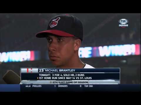 Michael Brantley praises Kluber, Tribe starters