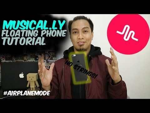 Musical.ly Floating Phone Trick #AirplaneMode [Musical.ly Tutorial]