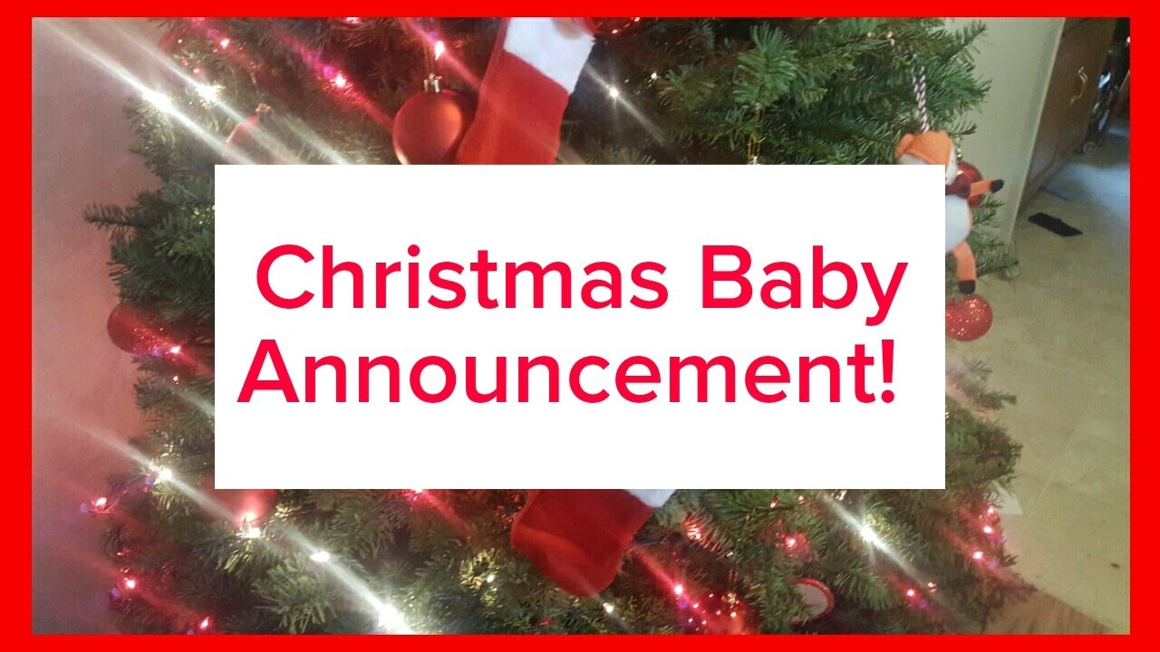 christmas baby announcement surprise turn on subtitles