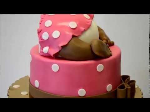 Baby Behind shaped cake Baby Shower theme cake YouTube