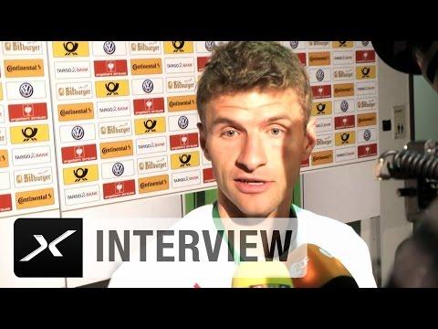 "Thomas Müller: ""Elfmeterschießen immer brutal"" | FC Bayern München - Borussia Dortmund 4:3 i.E."