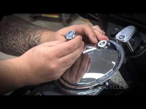 Kuryakyn Push Button Fuel Door Latch Installation By J&P Cycles