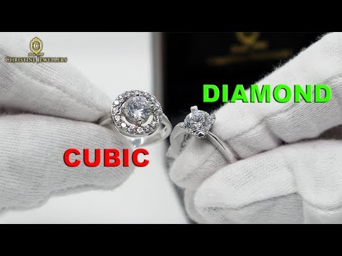 DIFFERENCE BETWEEN CUBIC ZIRCONIA & DIAMOND.