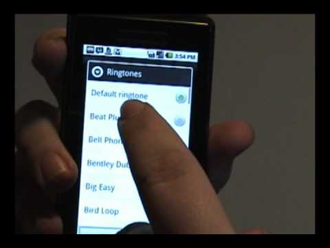 Setting Ringtones for Individuals on the Droid