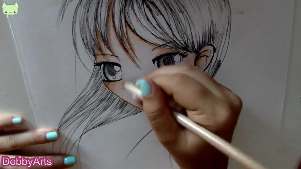 Disegnare E Colorare Un Viso Femminile How To Draw And Colour A