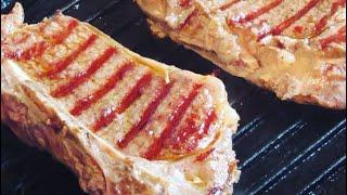 Как приготовить стейк из телятины на сковороде гриль Биол