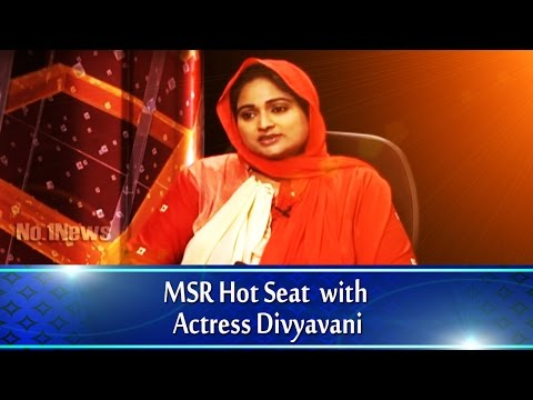 MSR Hot seat with Actress Divyavani || No.1 News