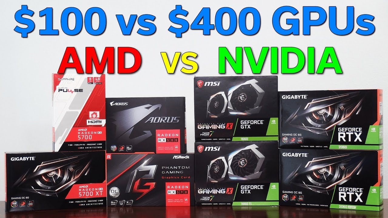 Amd Vs Nvidia 100 To 400 Graphics Card Which Should You Buy 8 Card Comparison Youtube