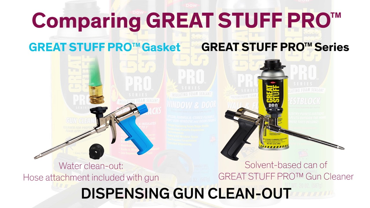 GREAT STUFF PRO™ Gasket | A flexible compressible sealant between framing  and drywall