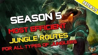 ✔ Season 5 - Most Efficient Jungle Routes for ALL Types of Junglers in Patch 5.5 | League of Legends