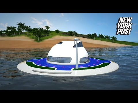 This UFO is actually a houseboat that will set sail on in 2018
