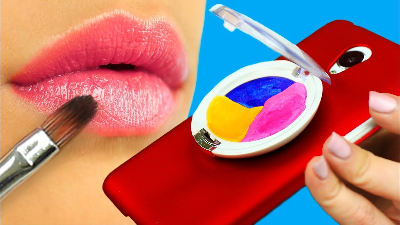 diy coques de t l phone styl es 7 id es en forme de maquillage youtube. Black Bedroom Furniture Sets. Home Design Ideas