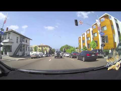 """Uber TV with Johnny Nevada using the VICO TF2+ Dashcam """"from North Park to the Airport"""""""
