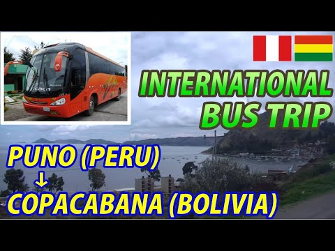 BUS TRIP Puno(Peru) → Copacabana(Bolivia) Shore of Lake TITICACA