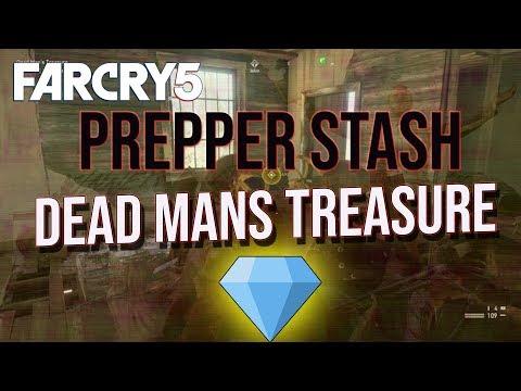 Far Cry 5 Dead Mans Treasure prepper stash location  mission how to grapple