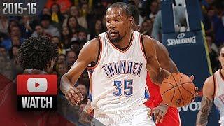 Kevin Durant Full Highlights vs Rockets (2016.01.29) - 33 Pts, 12 Reb, BEAST!