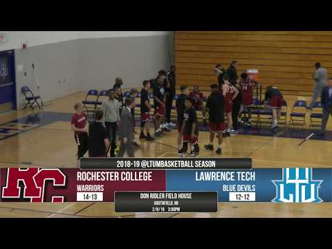 MBB | LTU vs. Rochester College 2/9/19 | Full Game