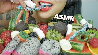 ASMR Fruits + Candy Gummy + Mashmallow (DIFFERENT TEXTURE EATING SOUNDS) NO TALKING | SAS-ASMR