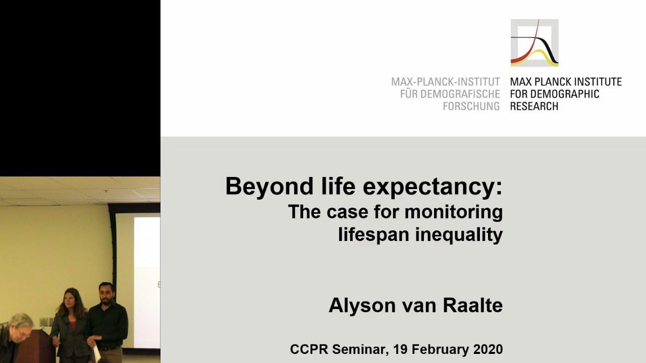 Alyson van Raalte: Beyond Life Expectancy - The Case for ...