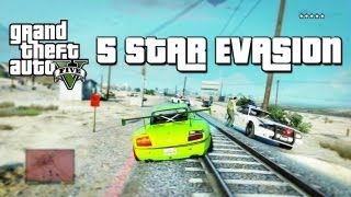 GTA 5: 5 Star Wanted Level Evasion (Police Chase)