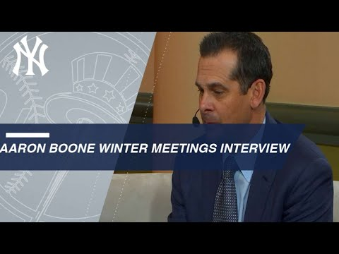 Aaron Boone discusses the busy weeks as a new manager