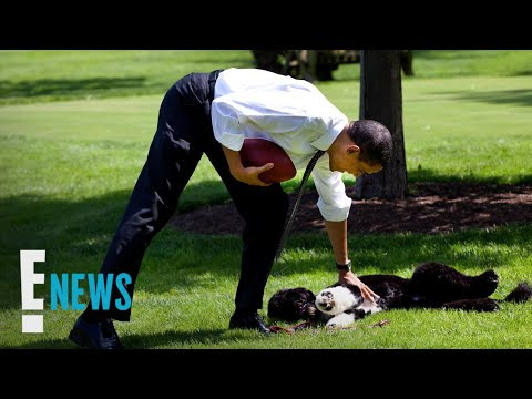 Michelle-Barack-Obama-Mourn-the-Loss-of-Their-Dog-Bo-E-News