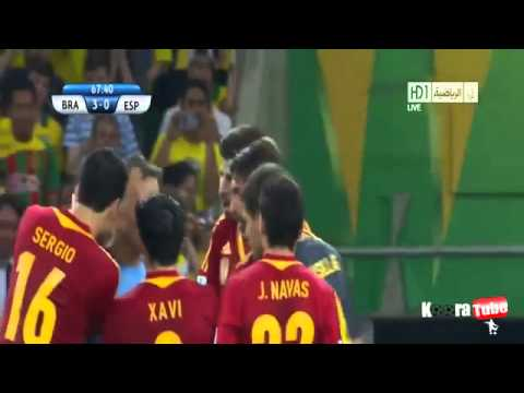 Red Card Gerard Pique agains Brasil (Confederations Cup Final 2013) - Neymar Tackle - 30/06/2013