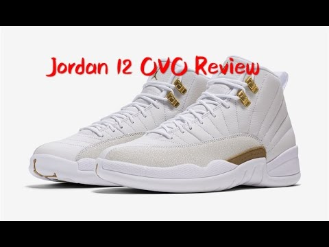 23b9e3a34dd Air Jordan 12 OVO White/Metallic Gold-White 873864-102 - YouTube