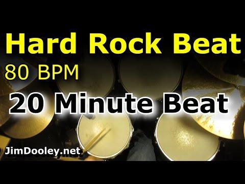 Drums Only Backing Track - Hard Rock Beat 80 BPM Drum Loop Excerpt