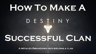How To Make A Successful Clan