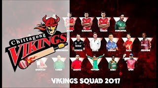 Chittagong Vikings Team - Player List