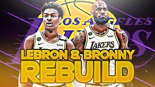THE LEBRON & BRONNY REBUILD CHALLENGE! (NBA 2K20)