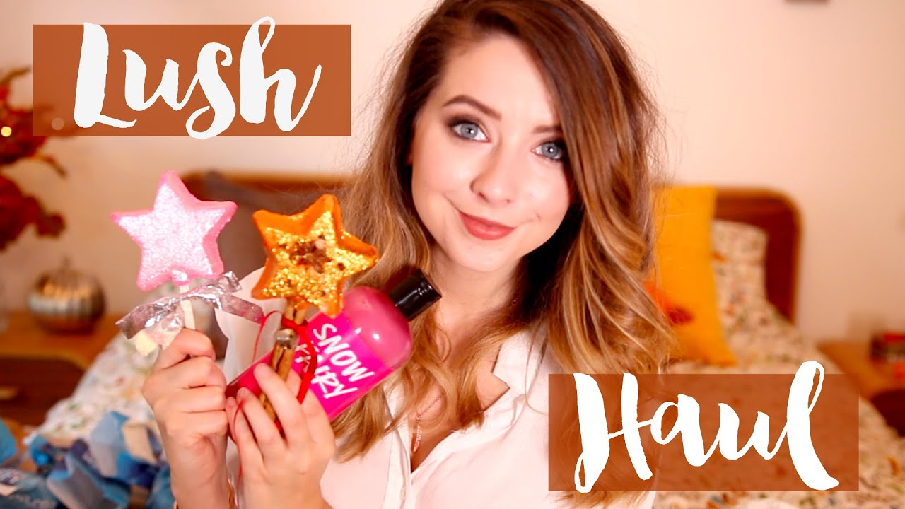 Halloween & Christmas LUSH Haul | Zoella - YouTube