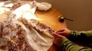 como costurar, e montar, cortinas duplas