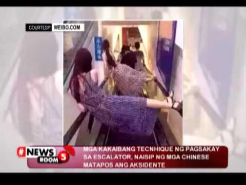 #NewsRoom5 | Mga paraan para umiwas sa aksidente sa escalator, patok na patok