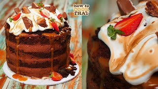 Decadent Chocolate Mousse Cake with Salted Caramel Drip | How To Cook That Ann Reardon