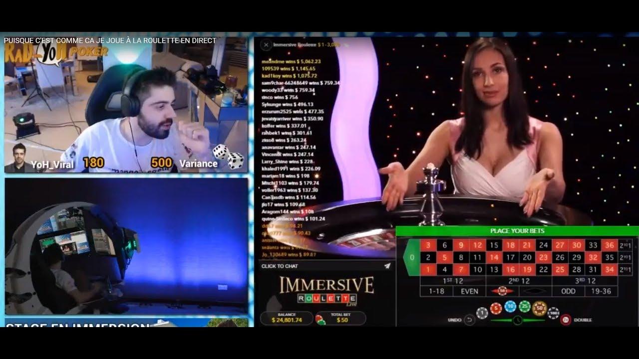 Roulette en ligne en direct barriere poker tour 2017