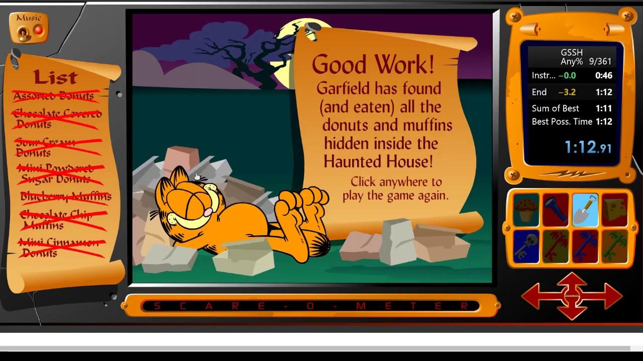 Any In 1m 12s By Zeus2459 Garfield S Scary Scavenger Hunt Speedrun Com