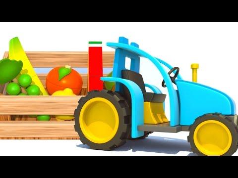 Мультики для детей про МАШИНКИ Трактор и Самосвал. Развивающее видео про фрукты