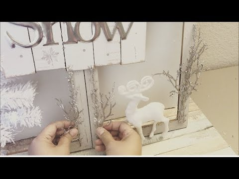 DOLLAR TREE DIY WINTER WONDERLAND WINDOW FRAME | XMAS DIY