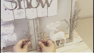 DOLLAR TREE DIY WINTER WONDERLAND WINDOW FRAME | XMAS DIY