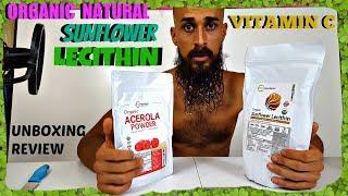 Organic Non GMO Natural Vitamin C and Sunflower Lecithin Powder for making Liposomal Vitamin C