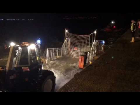 porthcawl rnli recover their atlantic 85 lifeboat by net recovery