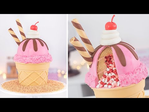 Ice Cream Cake  Cake Decorating Tutorial Tan Dulce