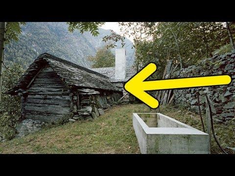 С виду этот дом выглядит как полуразвалившаяся хижина, но то что внутри просто поражает!