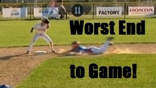 Worst baseball game ending. Little League world series great game - sad ending.